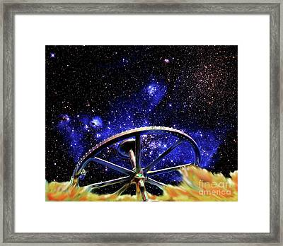 Framed Print featuring the photograph Cosmic Wheel by Jim and Emily Bush