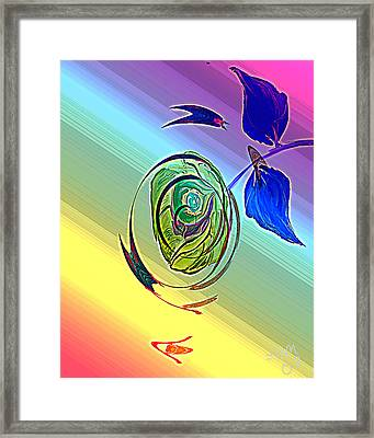 Cosmic Windstorm Framed Print by John Mueller