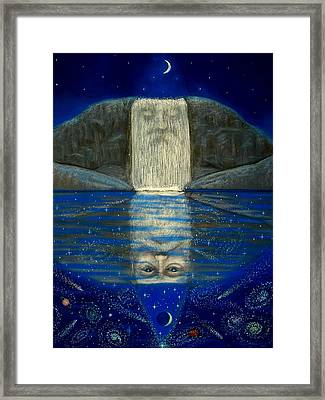Cosmic Wizard Reflection Framed Print