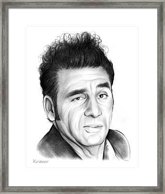 Cosmo Kramer Framed Print by Greg Joens
