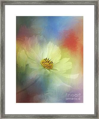 Cosmos Dreaming Abstract By Kaye Menner Framed Print
