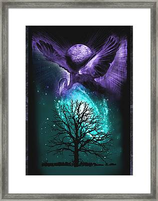 Framed Print featuring the painting Cosmos by Ragen Mendenhall