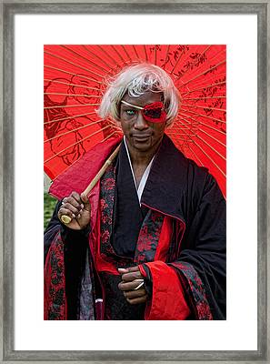 Cosplay On Japan Day Nyc 1 Framed Print by Robert Ullmann