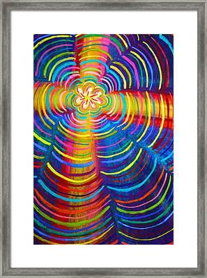 Cross Radiating Seven-fold Promise Of Hope Framed Print by Polly Castor
