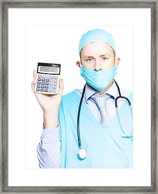 Cost Of Healthcare Framed Print