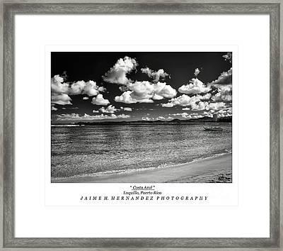 Costa Azul Framed Print by Jaime Hernandez
