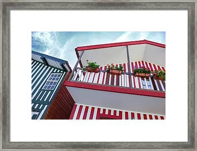 Costa Nova Houses 2 Framed Print by Carlos Caetano