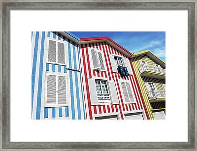 Costa Nova Houses 5 Framed Print by Carlos Caetano