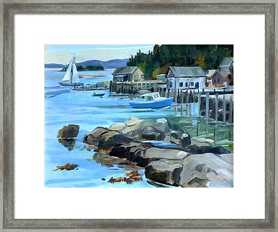 Costal Maine Framed Print by Michael McDougall