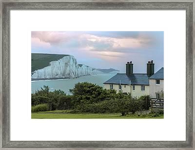 Costguard Cottages Seven Sisters - England Framed Print