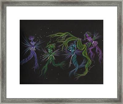 Framed Print featuring the drawing Costume Malfunction by Dawn Fairies