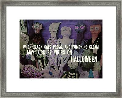 Costume Party Quote Framed Print by JAMART Photography