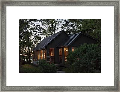Framed Print featuring the photograph Cosy Cabin In The Woods by Gary Eason