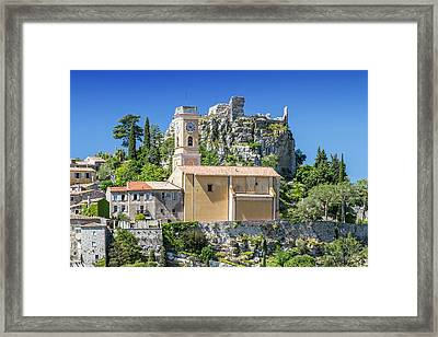 Cote D'azur Eze Framed Print by Melanie Viola