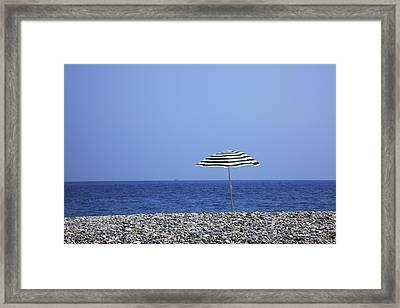 Cote D'azur, Nice, France Framed Print by Hiroshi Higuchi