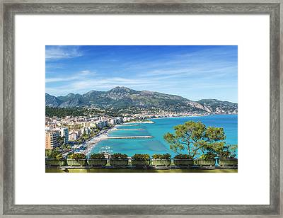 Cote D'azur Roquebrune Framed Print by Melanie Viola
