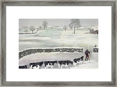 Cotswold - Winter Scene Framed Print
