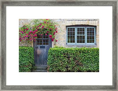 Framed Print featuring the photograph Cotswolds Cottage Home by Brian Jannsen