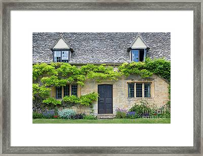 Framed Print featuring the photograph Cotswolds Cottage Home II by Brian Jannsen