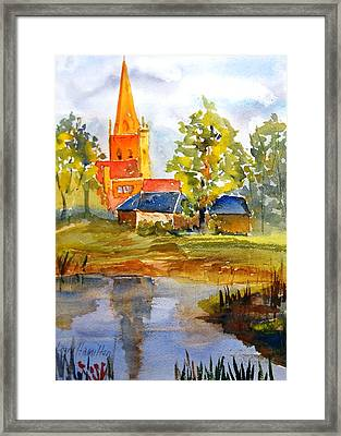 Cotswolds England Church Framed Print by Larry Hamilton