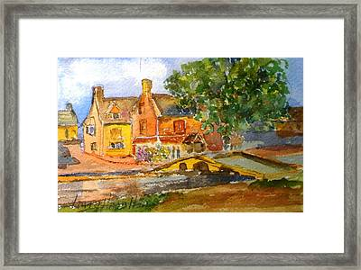 Cotswolds Town Study Framed Print by Larry Hamilton