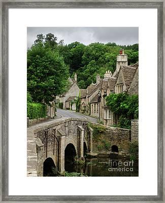 Cotswolds Village Castle Combe Framed Print