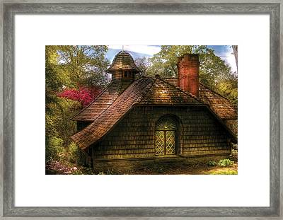 Cottage - Sweet Old Lady House Framed Print by Mike Savad