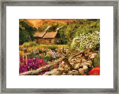 Cottage - There's No Place Like Home Framed Print by Mike Savad