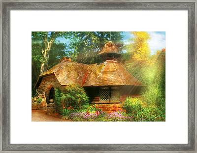 Cottage - A Little Dutch House Framed Print by Mike Savad