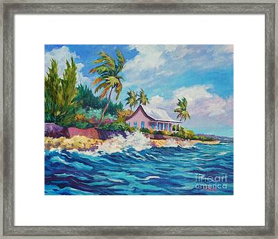 Cottage At Prospect Reef Framed Print by John Clark