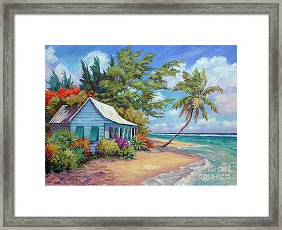 Cottage At The Water's Edge Framed Print