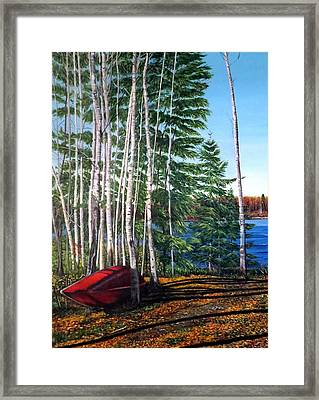 Cottage Country Framed Print