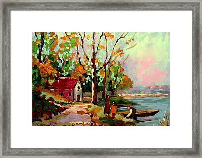 Cottage Country The Eastern Townships A Romantic Summer Landscape Framed Print