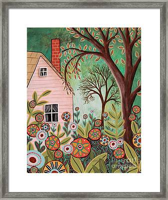 Cottage Garden 1 Framed Print by Karla Gerard
