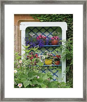 Cottage Garden Flower Pots Framed Print