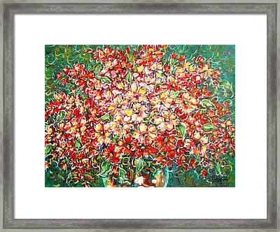 Framed Print featuring the painting Cottage Garden Flowers by Natalie Holland
