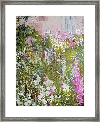 Cottage Garden Framed Print by Frances Lowe
