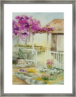 Cottage Garden Framed Print