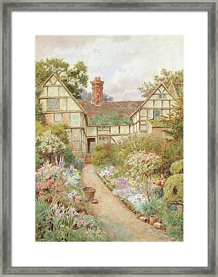 Cottage Garden Framed Print by Thomas Nicholson Tyndale