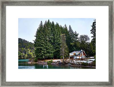 Little Cottage In The Argentine Patagonia Framed Print