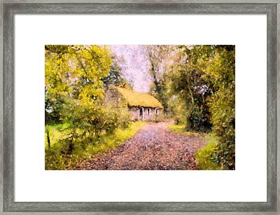 Cottage In The Country Framed Print by Georgiana Romanovna