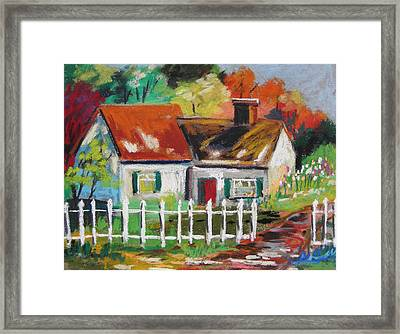 Cottage In The Sun Framed Print by John Williams