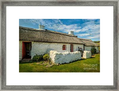 Cottage In Wales Framed Print by Adrian Evans