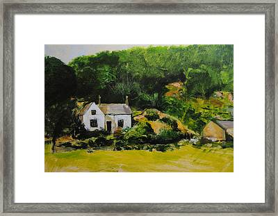 Framed Print featuring the painting Cottage In Wales by Harry Robertson