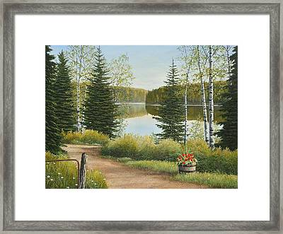 Cottage Lane Framed Print
