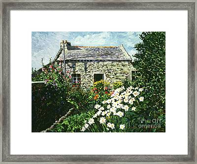 Cottage Of Stone Framed Print by David Lloyd Glover