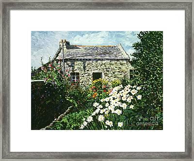 Cottage Of Stone Framed Print by David Lloyd Glover
