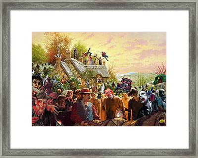 Cottage Of The Living Dead Framed Print by Barry Kite