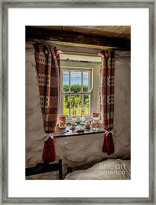Cottage Pottery Framed Print by Adrian Evans