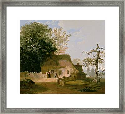 Cottage Scenery Framed Print